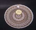 AKCAM Artistic Accents Glass Dinner Plates Gold  White 11 Set of 7 NEW