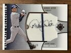 2008 Upper Deck Derek Jeter Autograph GAME USED Jersey Patch Auto # 99 Yankees
