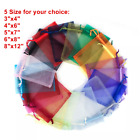 100X 200X Sheer Drawstring Organza Bags Jewelry Pouches Wedding Party Favor Gift