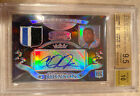 CALVIN JOHNSON 2007 BOWMAN STERLING JERSEY AUTO REFRACTOR RC 10 BGS QUAD 9.5