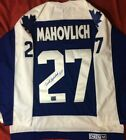 FRANK MAHOVLICH JERSEY SIGNED TORONTO MAPLE LEAFS AUTOGRAPHED