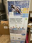 INTEX 15 x 48 PRISM STEEL FRAME ABOVE GROUND POOL W LADDER AND PUMP FREE SHIP