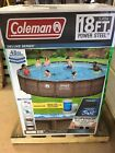 NEW Coleman 18ft x 48in Above Ground Swimming Pool W Pump Ladder  Pool Cover
