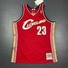 100% Authentic Lebron James Mitchell Ness 03 04 Cavaliers Jersey Size 48 XL