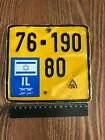 ISRAEL IL MOPED LICENSE PLATE