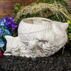 Long Hair Cat  Yarn Planter 11 IN STOCK Ceramic Bisque Ready To Paint Pottery