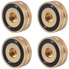 2X4PCS Turntable Isolation Feet Pads Aluminum Speaker Spikes Stand Foot Cones
