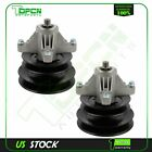 2 Spindle Assy w Double Pulley For 50 Decks MTD Cub Cadet 6 PT STAR Blades