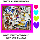 ALL MAKEUP OR MIXED BEAUTY LOTS Eyes + LIPS + FACE + SKINCARE + BODY CARE + BAG