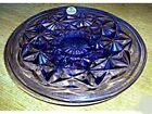NEW FENTON VIOLET PURPLE GLASS MINI CAKE PLATE ON PEDESTAL OR CANDLE PLATE