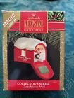 CHRIS MOUSE MAIL COLLECTOR'S SERIES WITH LIGHT HALLMARK KEEPSAKE ORNAMENT 1991