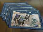 Christmas Nativity Tapestry Placemats Set Of 6