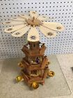 Vintage 18 Wood Pyramid 3 Tier German Nativity Christmas Carousel Fascinating