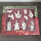 Holiday Time 10 Piece Porcelain Nativity Set Brand New