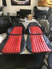 1993 1996 Camaro Front  rear seat covers in Ebony Black With Red Inserts