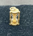 14K Yellow Gold Hour Glass Charm