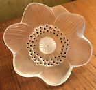 Lalique Anemone Flower Paperweight Figurine Signed Authentic