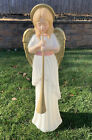 Vintage TPI Angel Choir W Horn Nativity Lit Blow Mold Christmas 34Holiday