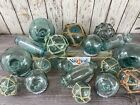 Japanese Glass Fishing Floats Old Vintage Balls Authentic Japan Fish Net Buoy