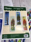 Herrschners Four Seasons Trees Bookmarks Counted Cross Stitch Kit RARE