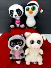 TY Beanie Boo Lot of 4 Plush 6