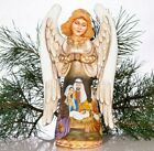 Wooden Hand carved Angel 11 hand painted Nativity Scene Christmas decorations