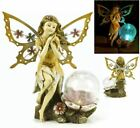 Fairy Angel Butterfly Wings Solar Garden Light w Color Changing LED Glass Globe