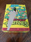 TEENAGE MUTANT NINJA TURTLES TMNT 2nd Series Box Topps 1990 48 packs w Poster