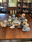 10 Piece Kids Dressed Up Ceramic nativity Set
