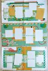 Blossom Spring Special Occasion Pre Cut 6 page Scrapbook Layout Kit