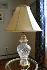 Vintage Waterford Clear Cut Glass Ginger Jar Table Lamp 7550 w Waterford Shade