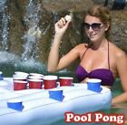 Inflatable Pool Party Barge Floating Beer Cooler Pong Table  White 6 Feet