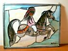 DeGrazia Stained Glass Hanging Panel Merry Little India 39305 NEW OLD STOCK