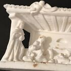 Nativity Chalkware Diorama Christmas Sculpture Relief Figure Decor Plaster Italy