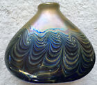 Wonderful Rare Vintage Studio Art Hand Blown Wave Vase Signed 1956  w