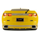 Polished Stainless Trunk Lid Plate w Synergy Green RS Inlay for 2010 13 Camaro
