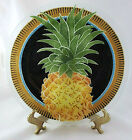 Peggy Karr Fused Art Glass Round Plate Pineapple 11