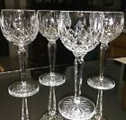 Set of 4 WATERFORD LISMORE 75 Hock Wine Glasses Clear Goblets Water EXCELLENT