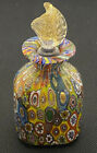 Rare Murano Art Glass Millefiori Murrine Perfume Bottle W Stopper 4 Inches High