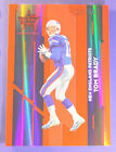 2006 06 TOM BRADY LEAF ROOKIES & STARS RED LONGEVITY HOLOFOIL SERIAL # 249 EARLY