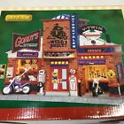 NOS Lemax Gordys Cycle Shop Motorcycle Building Retired 25383 Christmas Village
