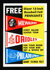 1959 TOPPS PENNANTS BAZOOKA WRAPPER PREMIUM CANADIAN VERSION ONLY KNOWN EXAMPLE