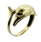 14k Yellow Gold Dolphin Ring 46g
