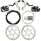 Road Bike Bicycle Hydraulic Disc Brakes Lever Calipers Front Rear Brake Kit H0V0