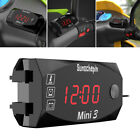 3 In 1 Motorcycle Watch Thermometer Voltmeter 6v 30v Meter Night Vision