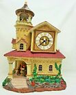 Rare Lemax Village CHURCH CLOCK MONKS RINGING BELLS Lighted house 2003 SEE VIDEO