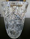 Irena Collection Large Crystal Cut Glass Vase 9 inches