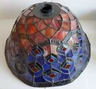 DALE TIFFANY Stained Glass Lamp Shade Peacock Blue Red 155 Dia