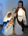 Christmas Nativity Outdoor TPI Blow Mold 36 Joseph Mary Jesus 1996 1997 vintage