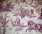 Victorian Lrg Print Red Tolle Cotton Fabric Unbranded 4 Yds X 45 Inches Wide